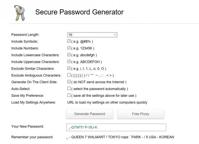 정녕 이것이 제 새 비밀번호 입니까?! - http://passwordsgenerator.net/ 사이트 화면 캡쳐 제공